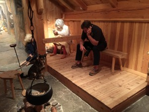 Roger on the phone in Tromso museum